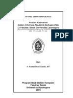 Analisis Keamanan Sistem Informasi Akademik Berbasis Web Di Fakultas Teknik Universitas Diponegoro