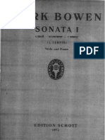 Bowen, York. Bowen Sonata No 1 for Viola and Piano