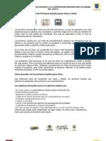 Manual de Primeros Auxilios para niños y niñas