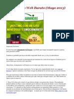 Alojamiento Web Barato (Mayo 2013)