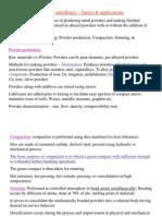 Powder Metallurgy Complete Note