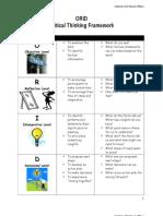 ORID template Critical Thinking