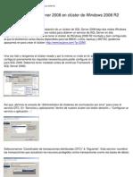 Instalación de SQL Server 2008 en clúster de Windows 2008 R2