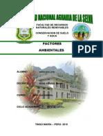 Factores Ambientales - II