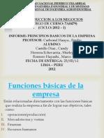 Funciones básicas de la empresa