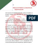 Declaración Pública - JS UV