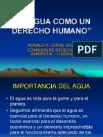 El Agua Como Un Derecho Humano
