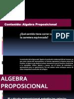 Presentacion II Algebra Proposicional Introduccion
