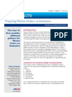 USAID, How to Note, Preparing Mission Orders Evaluation, 2012, uploaded by Richard J. Campbell