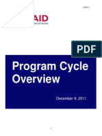 USAID, Program Cycle Overview, 2011, uploaded by Richard J. Campbell