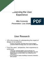 Kuniavsky 2003 - Observe UX (Slide)