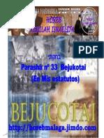 Parasha nº 33 Bejukotai 4 Mayo 13