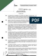 Acuerdo 434-12 Resolucion de Conflictos