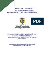 Cuadro Nacional Atribucion Bandas de Frecuencias 2010