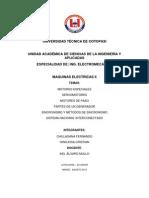 Informe de Motores y Generadores Sincronicos