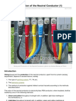 Sizing and Protection of the Neutral Conductor 1