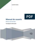Manual  de usuario Bitacora