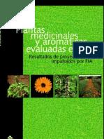 Plantas Medicinales y Aromaticas Evaluadas en Chile