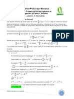 06 - Ecuación diferencial - Bernoulli