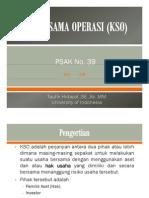 PSAK 39 tentang Kerja Sama Operasi
