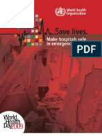 World Health Day 2009 Save lives. Make hospitals safe in emergencies, brochure
