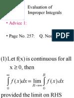 17 evaluation of improper integrals
