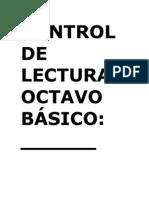 CONTROL DE LECTURA OCTAVO BÁSICO