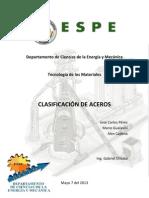 Clasificacion de Los Aceros 7-05-2013