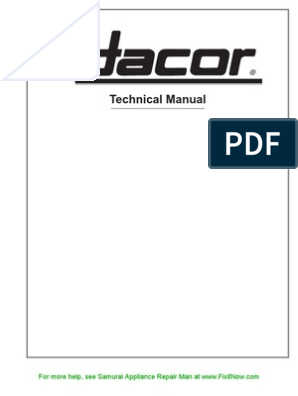 dacor technical manual | electric current | relay  scribd