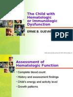 Child With Hematologic or Immunologic Dysfunction