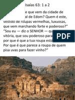 Sermão - O Homem que vem de Edom