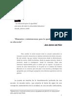 Elementos e Intervenciones Para La Igualdad de Genero en Educacion Ana Alonso