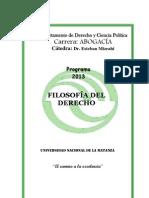 368_Filosofia Del Derecho Mizrahi Programa Unlam