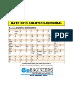 Gate 2013 Ch Solution Answer Key