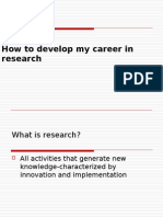 Ways to Develop Your Career in Research