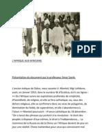 Afrique Aux Africains de BAYE NIASS