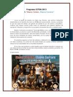 Programa Lista a CETEM 2013