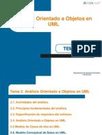 Transparencias Tema 2 Analisis Orientado a Objetos I MCU