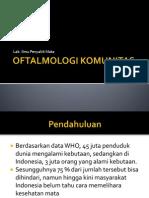 oftalmologi komunitas