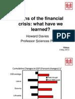 Prof. Howard Davies Presentation