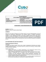Job Description Country Representative - Peru