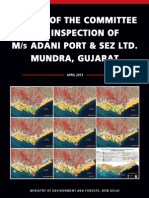 Report of the Committee for Inspection of M/s Adani Port & SEZ Ltd. Mundra, Gujarat