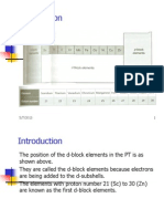 An Introduction to the Chemistry of D-Block Elements