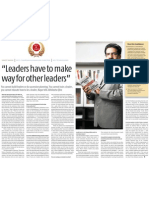 """Leaders have to make way- vineet nayar HCL"