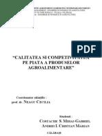 Calitatea Si Competivitatea Pe Piata a Produselor Agroalimentare