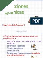 Reacciones Quimica -- Ing. Larrea