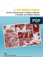 Media and the Nepali Public 2012