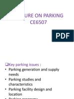 Parking Class note.