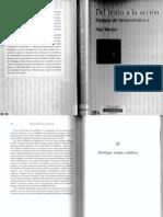 Ricoeur - Dal Texto a La Accion