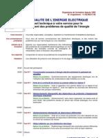 LA QUALITE DE L'ENERGIE ELECTRIQUE